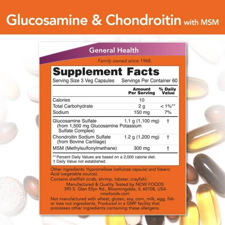 Now Joint Supplement Label