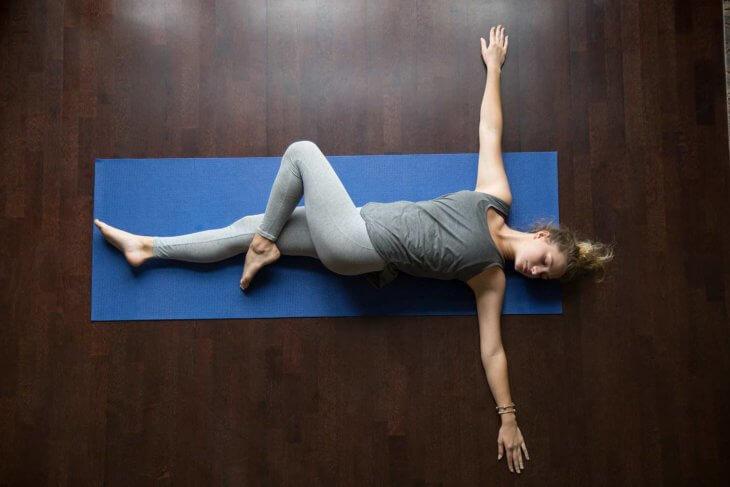 Supine Twist Yoga Supta Matsyendrasana