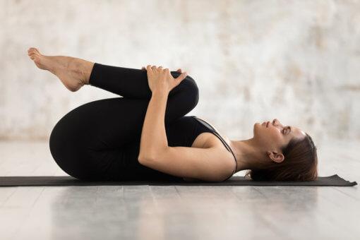 Knees To Chest Yoga Post Apanasana