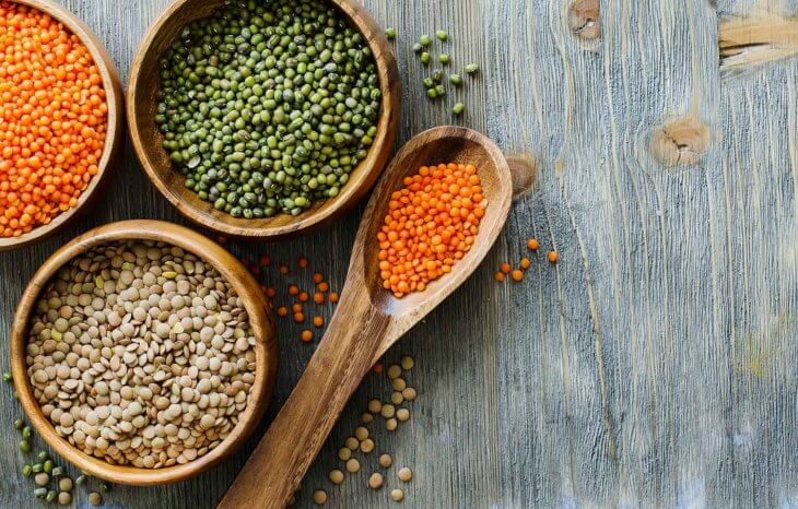 lentils red green brown