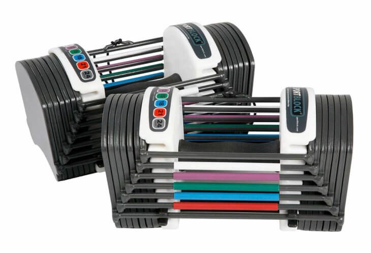 powerbloc sport 24 pound dumbbell set