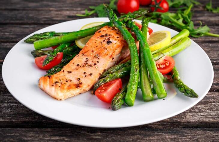 salmon weight loss asparagus