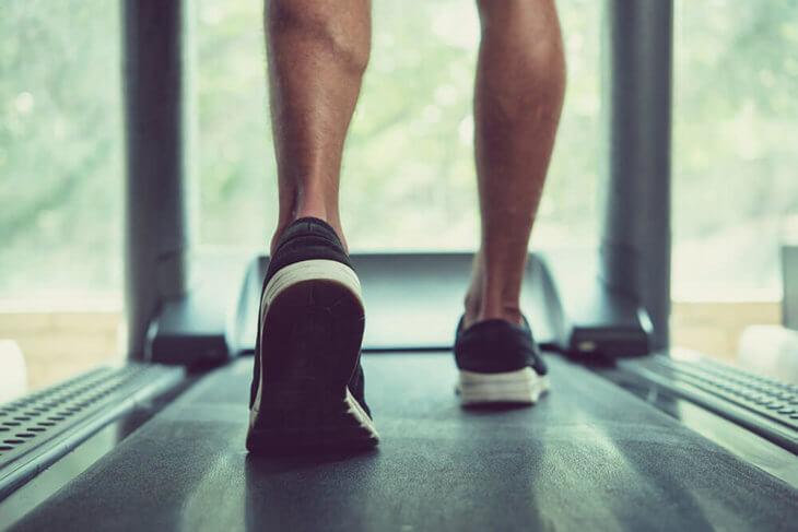 treadmill balanced floor