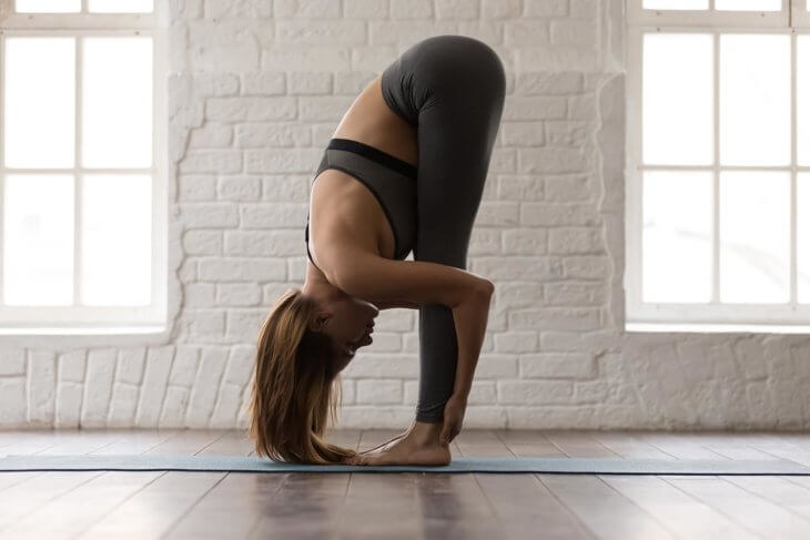 Uttanasana Folding Forward Pose